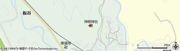 千葉県大多喜町(夷隅郡)板谷周辺の地図