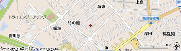 愛知県名古屋市守山区上志段味(海東)周辺の地図