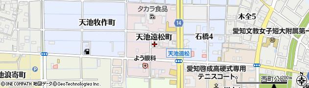 愛知県稲沢市天池町(遠松)周辺の地図