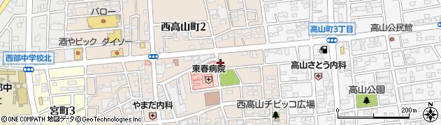 愛知県春日井市西高山町周辺の地図