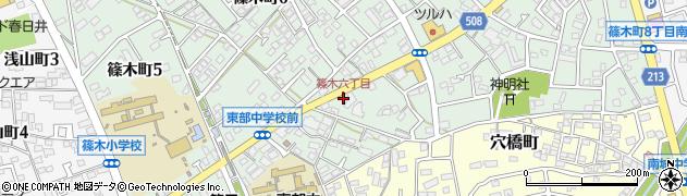 ほっともっと春日井篠木町店周辺の地図