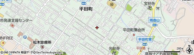 滋賀県彦根市平田町周辺の地図