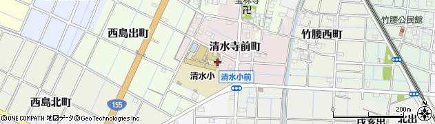 愛知県稲沢市清水寺前町周辺の地図