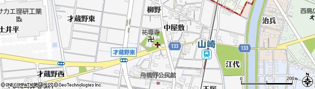 愛知県稲沢市祖父江町山崎(柳野)周辺の地図