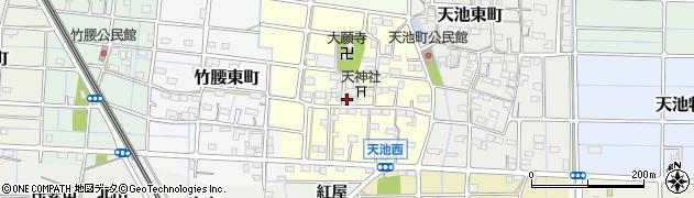 愛知県稲沢市天池西町周辺の地図