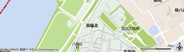 愛知県稲沢市祖父江町拾町野(猿尾北)周辺の地図