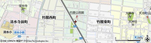愛知県稲沢市竹腰中町周辺の地図