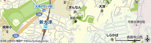 大津諏訪神社周辺の地図