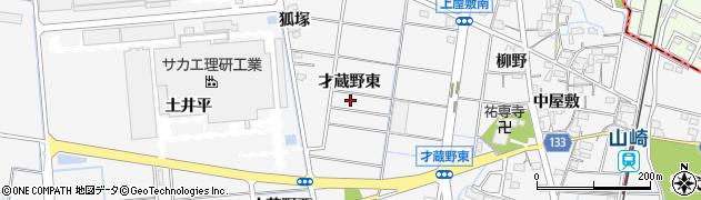 愛知県稲沢市祖父江町山崎(才蔵野東)周辺の地図