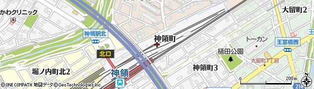 愛知県春日井市神領町周辺の地図