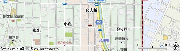 愛知県北名古屋市六ツ師(女夫越)周辺の地図