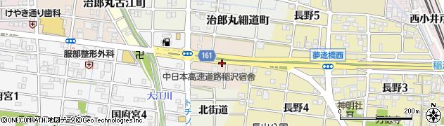 愛知県稲沢市治郎丸大角町周辺の地図