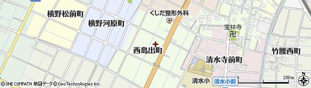 愛知県稲沢市西島出町周辺の地図