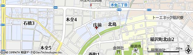 愛知県稲沢市木全町周辺の地図