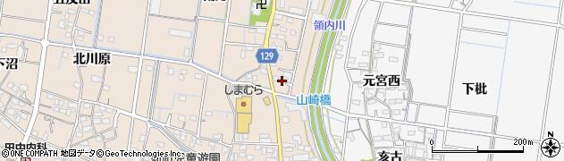 愛知県稲沢市祖父江町祖父江(下川田)周辺の地図