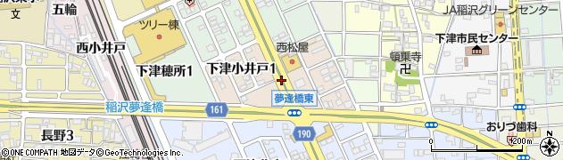 愛知県稲沢市下津小井戸周辺の地図