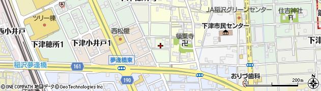 愛知県稲沢市下津小井戸町周辺の地図