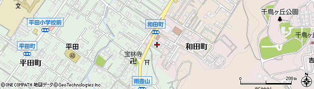 和田西団地周辺の地図