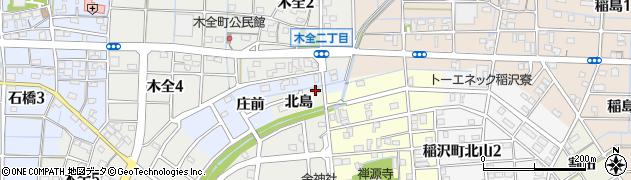 愛知県稲沢市稲沢町(北島)周辺の地図