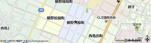 愛知県稲沢市横野河原町周辺の地図