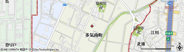 愛知県小牧市多気南町周辺の地図