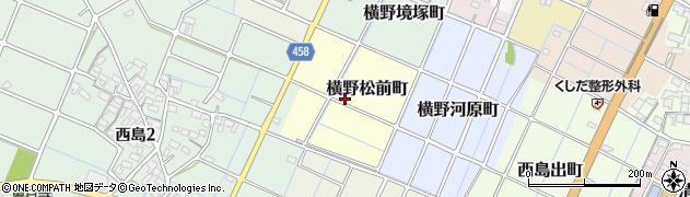 愛知県稲沢市横野松前町周辺の地図