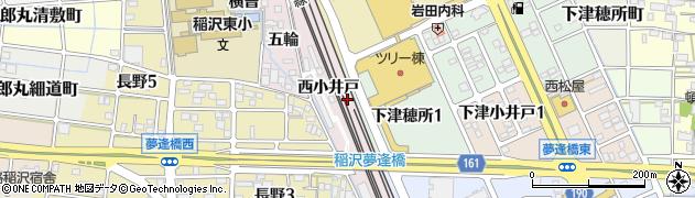 愛知県稲沢市長野町(西小井戸)周辺の地図