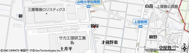 愛知県稲沢市祖父江町山崎(狐塚)周辺の地図