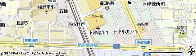 愛知県稲沢市下津穂所周辺の地図