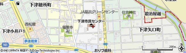 愛知県稲沢市下津高戸町周辺の地図