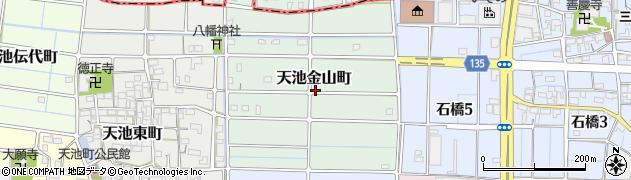 愛知県稲沢市天池金山町周辺の地図