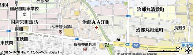 愛知県稲沢市治郎丸古江町周辺の地図