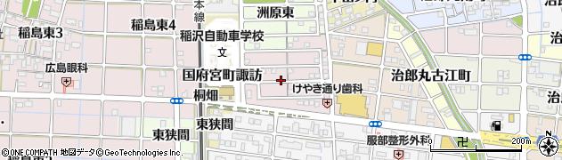 愛知県稲沢市国府宮町手枕周辺の地図
