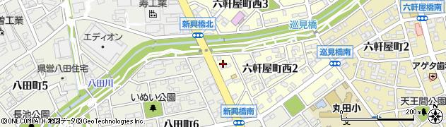 岡崎屋 八田支店周辺の地図