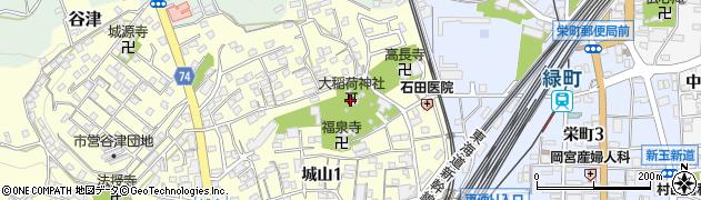 大稲荷神社周辺の地図