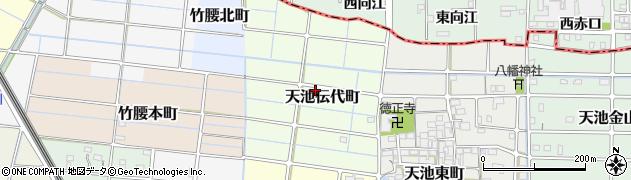 愛知県稲沢市天池伝代町周辺の地図