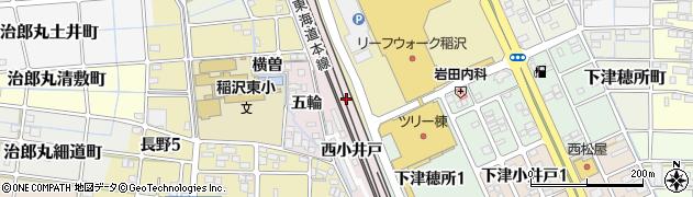 愛知県稲沢市長野町周辺の地図