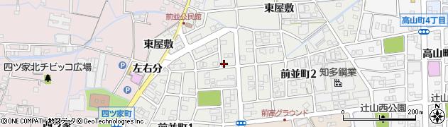 愛知県春日井市前並町周辺の地図