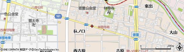 愛知県北名古屋市徳重(西葭原)周辺の地図