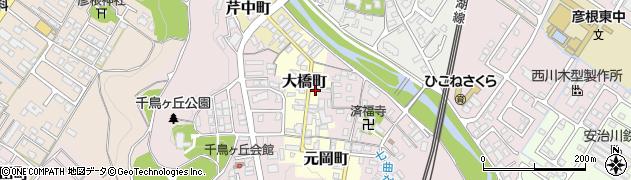 滋賀県彦根市大橋町周辺の地図