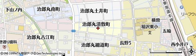 愛知県稲沢市治郎丸清敷町周辺の地図