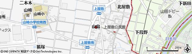 愛知県稲沢市祖父江町山崎(山畠)周辺の地図