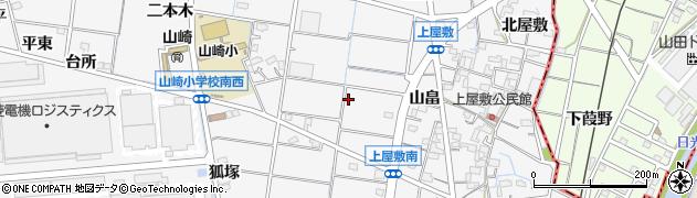 愛知県稲沢市祖父江町山崎(上屋敷)周辺の地図