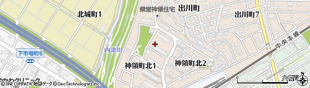 愛知県春日井市神領町北周辺の地図