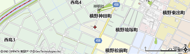 愛知県稲沢市横野神田町周辺の地図
