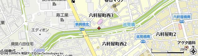 愛知県春日井市六軒屋町西周辺の地図