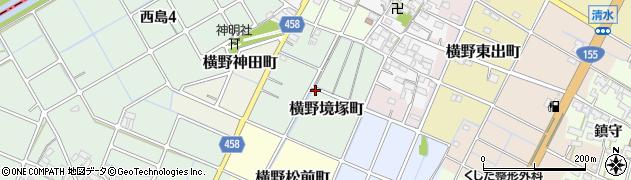 愛知県稲沢市横野境塚町周辺の地図