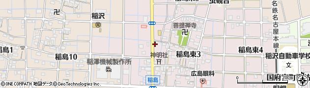 愛知県稲沢市稲島町(道上)周辺の地図