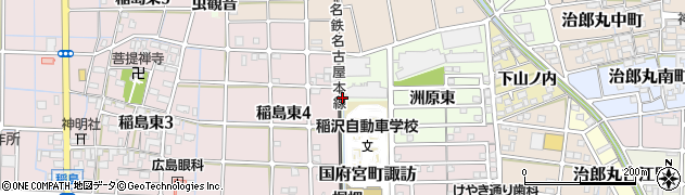 愛知県稲沢市稲島町(洲原西)周辺の地図