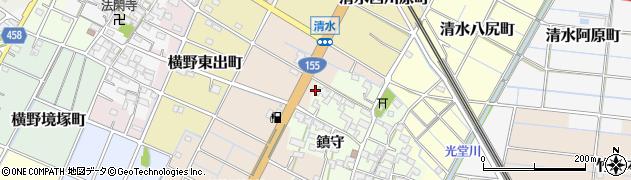 愛知県稲沢市清水町(円居浦)周辺の地図